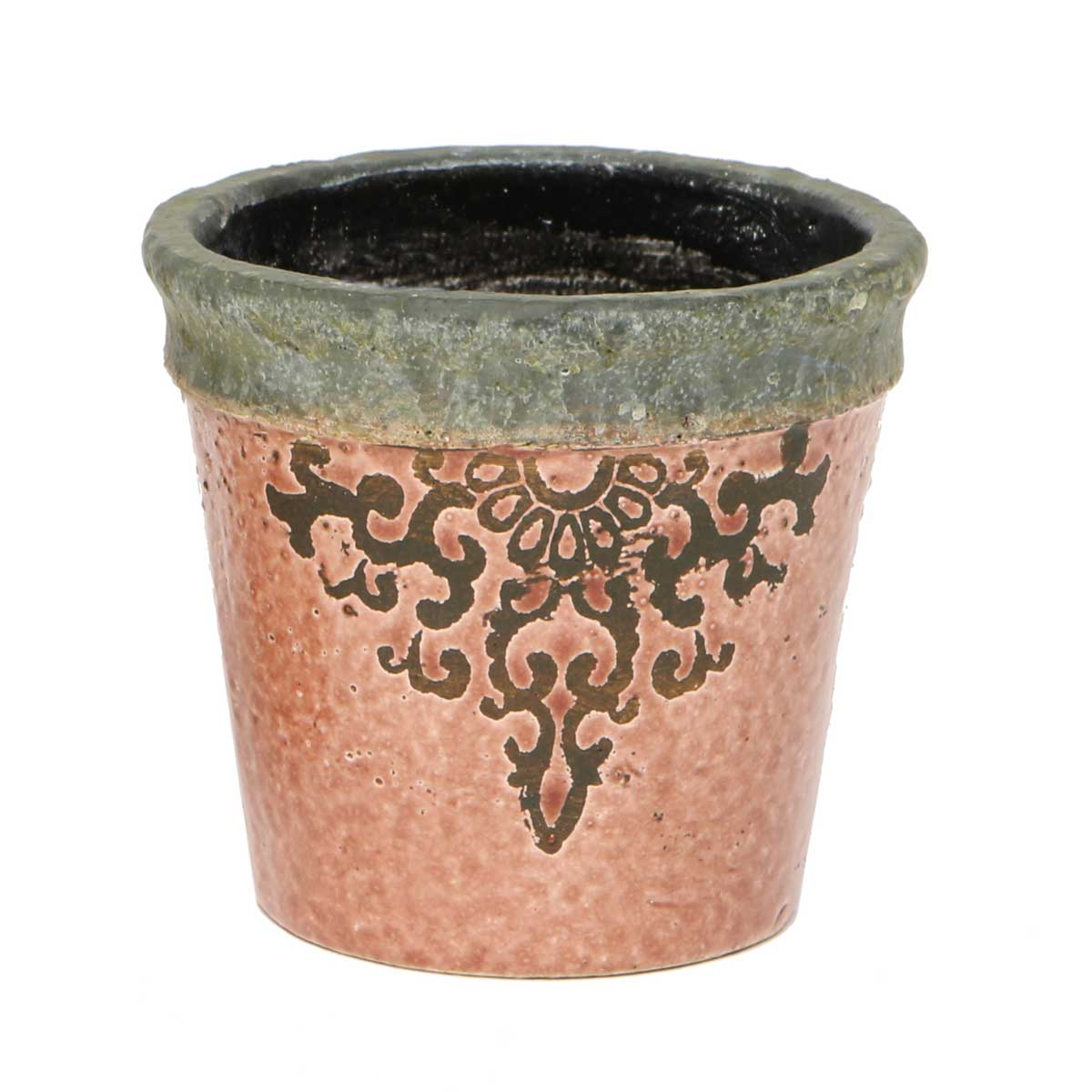 "Filigree Garden Pot Clay 5.5""x5.5"" A2062 CL v22"