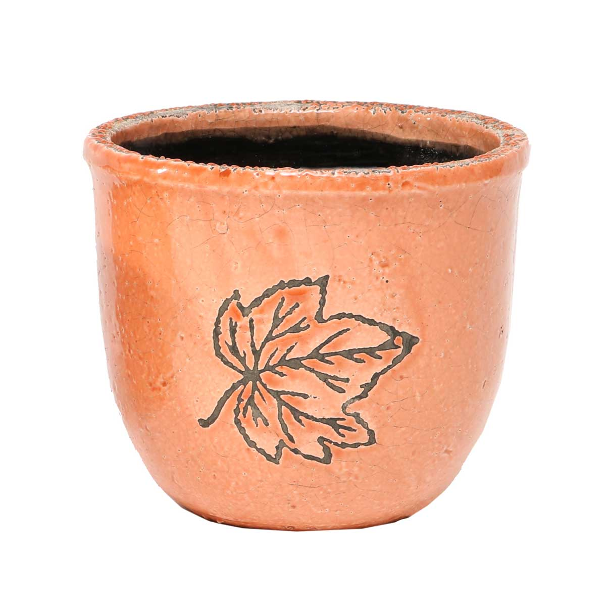 Leaf Cache Pot Clay 5.5�x6� A2069 CL v22