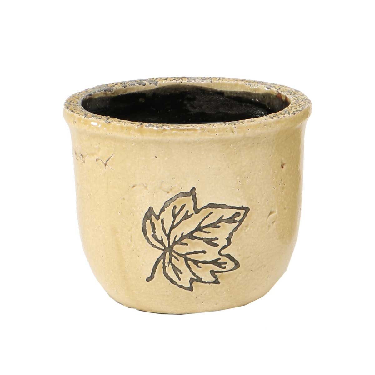 "Leaf Cache Pot 4.5""x5"" A2070 TN"