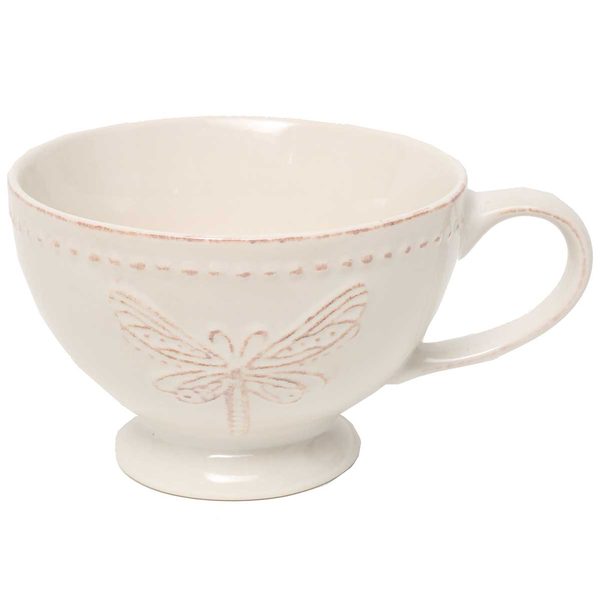 "DRAGONFLY BOWL With HANDLE 7.25""X3.75"" SOUP, MUG"