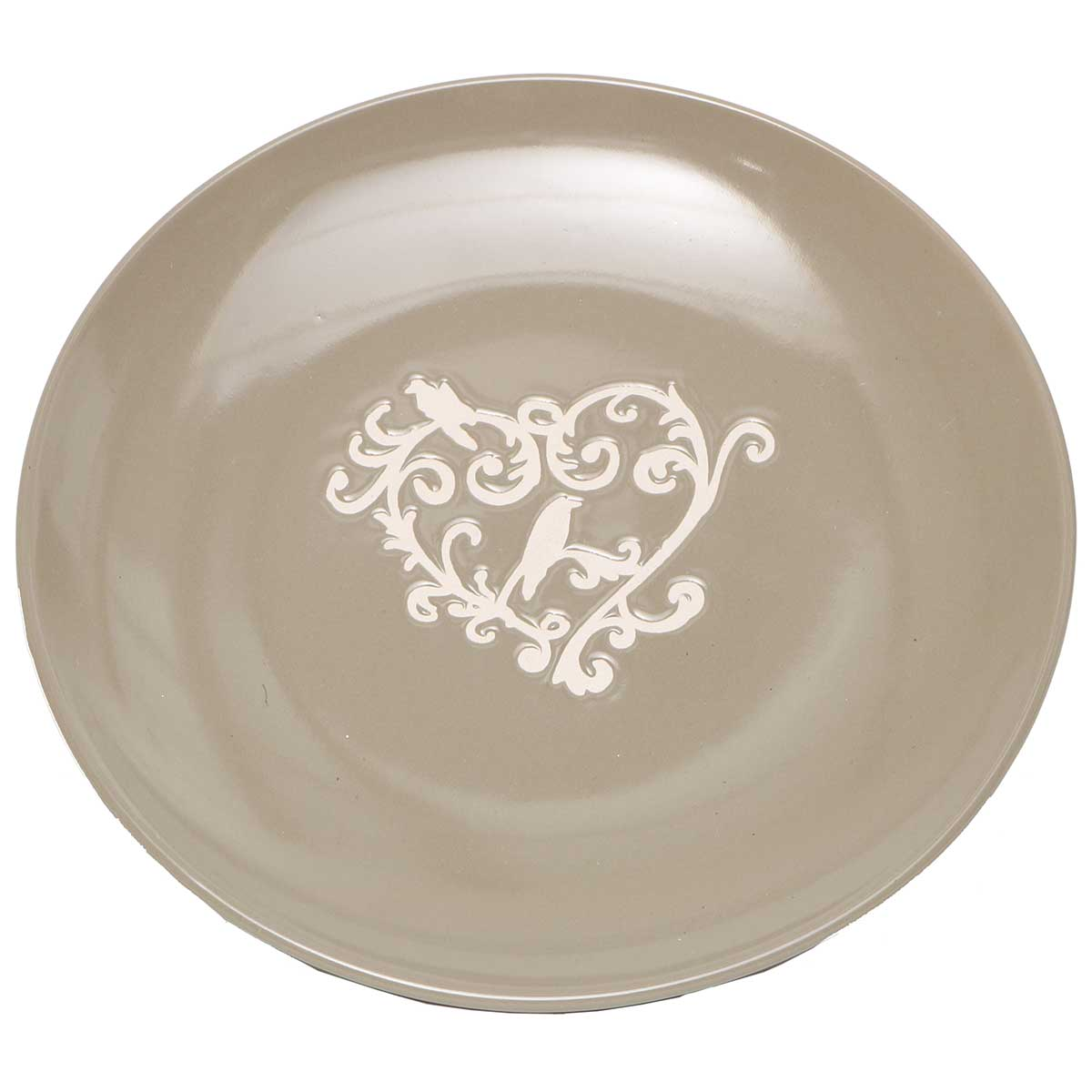 "PROVENCE 8"" PLATE Taupe/Cream A2107"