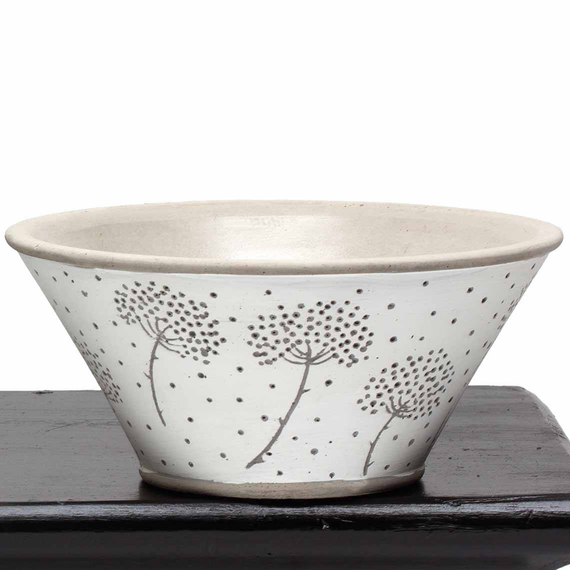 "DANDELION BOWL 7""X3.25"" WHITE"