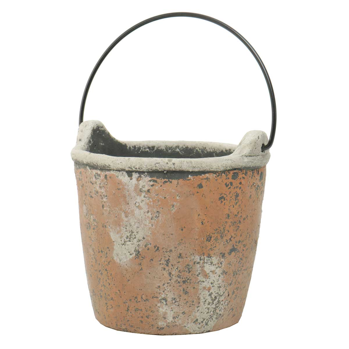 "PAIL WITH HANDLE 6""X6.5"" CONCRETE"