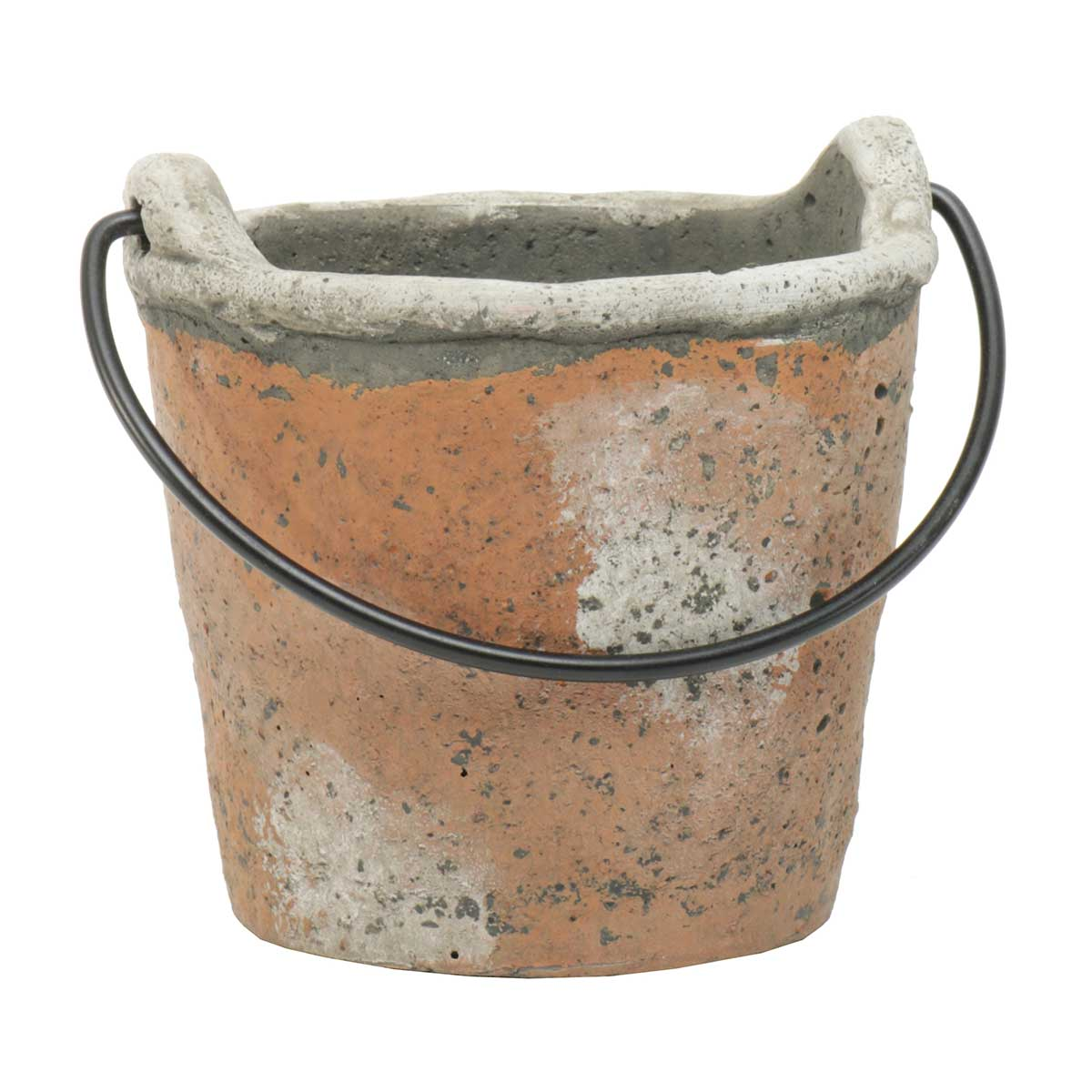 "PAIL WITH HANDLE 4.5""X5"" CONCRETE"