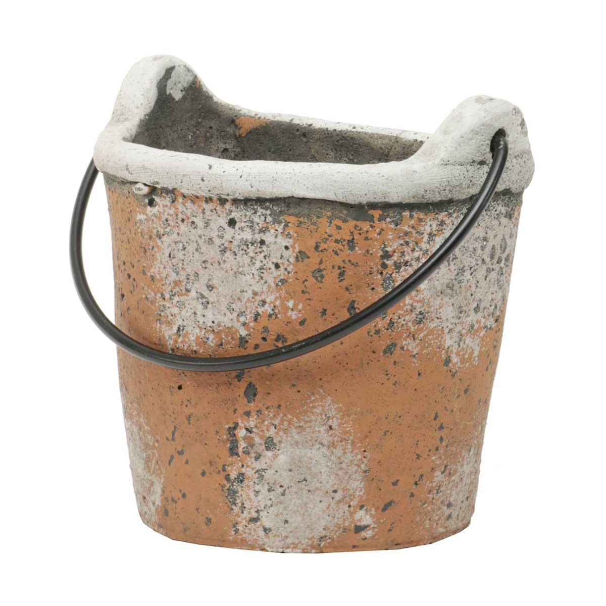 "WALL BUCKET WITH HANDLE 4.5""X3.5"" CONCRETE"