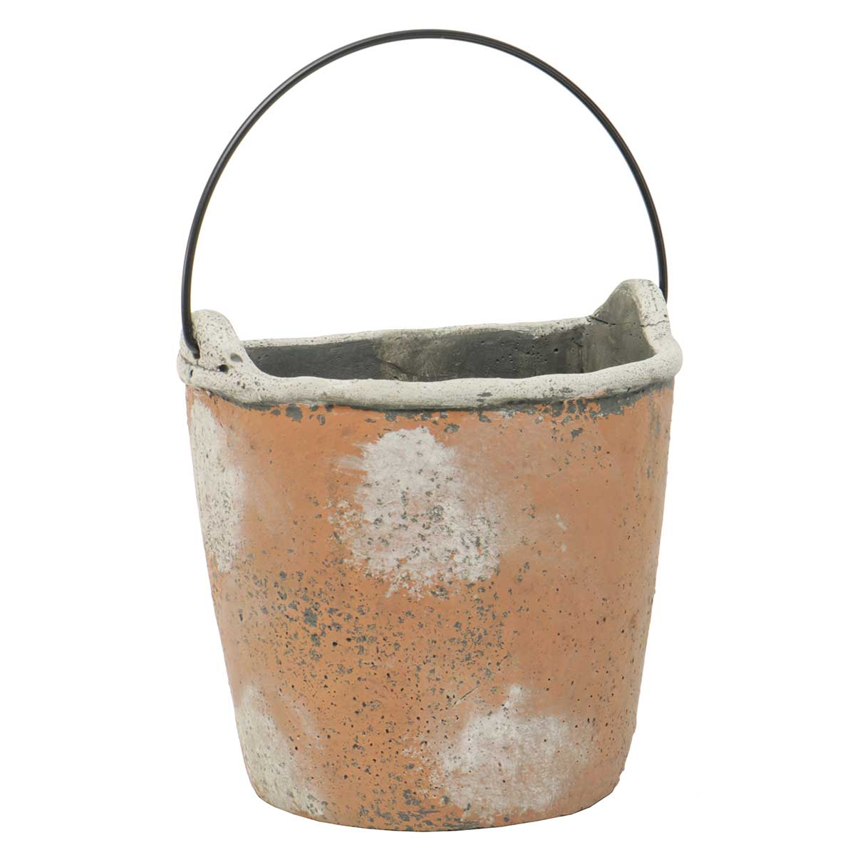 "WALL BUCKET WITH HANDLE 7""X5.5"" CONCRETE"