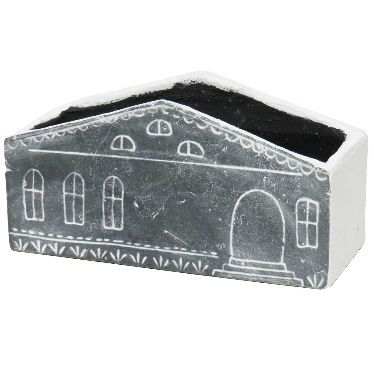 "RECTANGLE HOUSE PLANTER 9.5""X4.5"