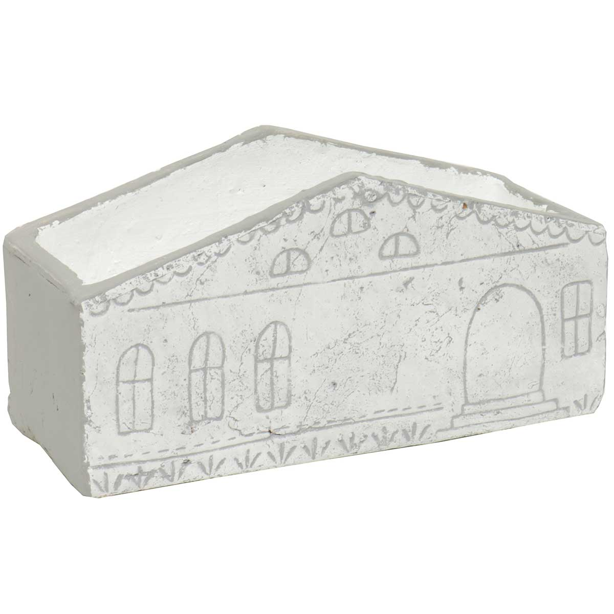 "RECTANGLE HOUSE PLANTER 9.5""X4.5"" GREY"