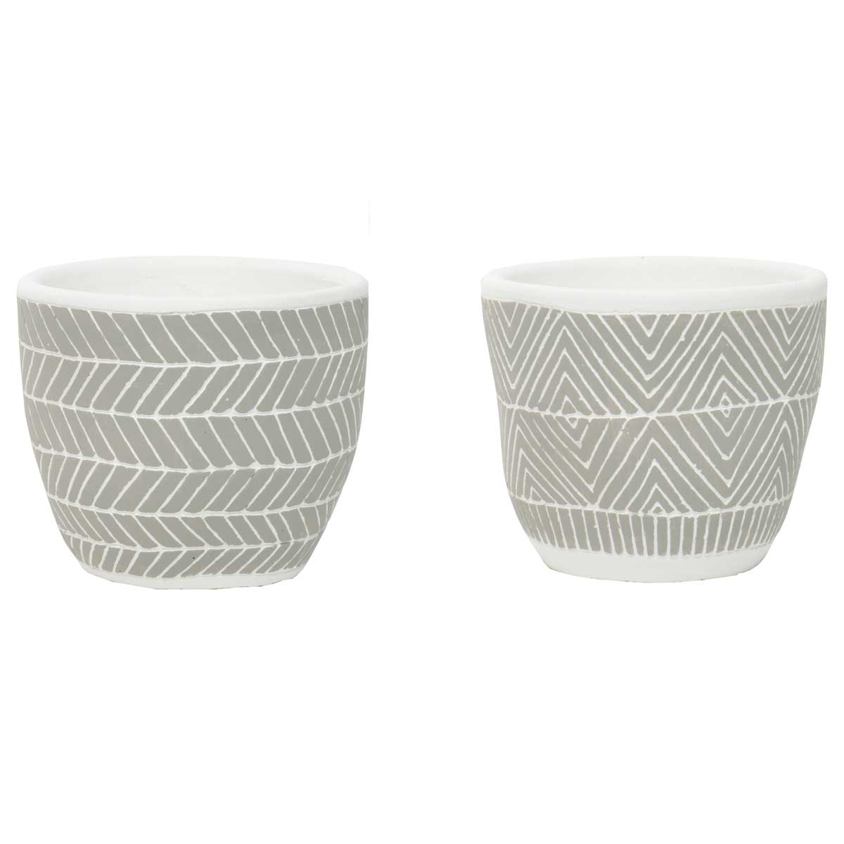 "DECORATIVE MESA AND YUMA POTS 6.5""X5"" SET OF 2"