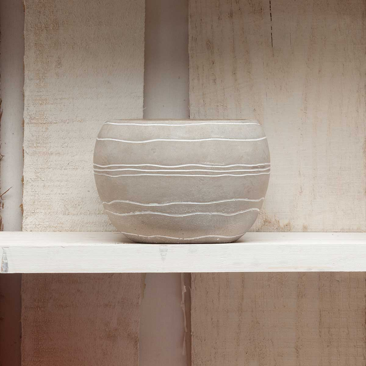 "RETRO CHIC POT 4.5""X3.5"" SLATE"