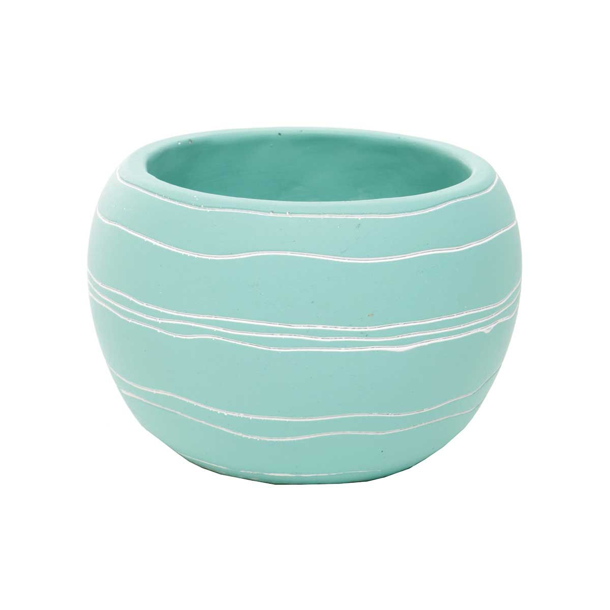 "RETRO CHIC POT 4.5""X3.5"" TEAL"