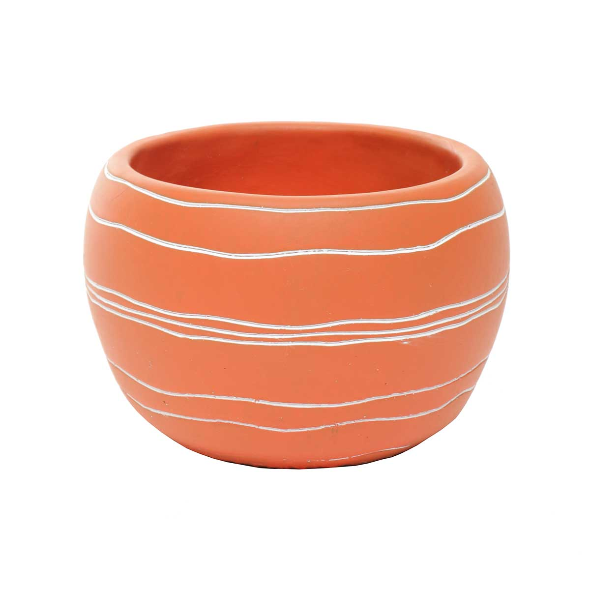 "Retro Chic Pot 5""x3.75"" Coral"