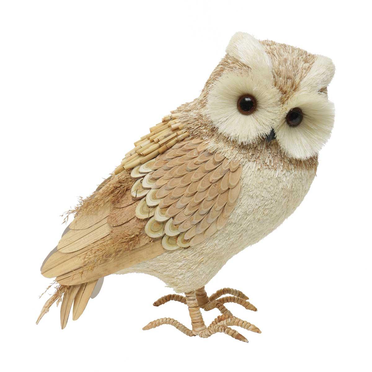 "Farmhouse Owl Standing 5.5""x13""x14"""