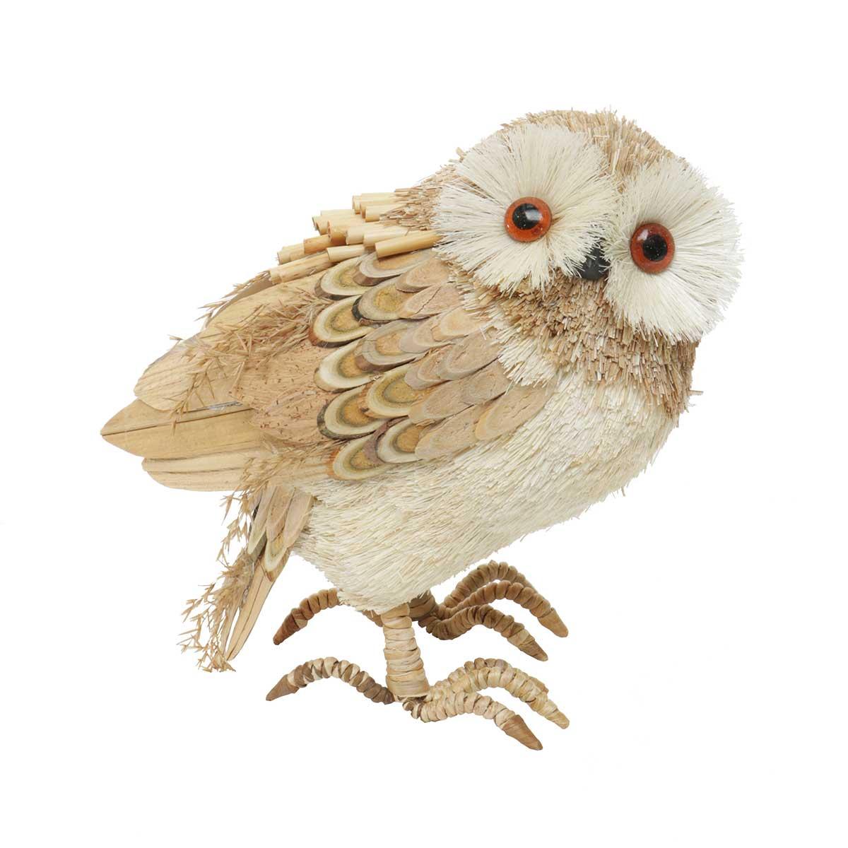 "Farmhouse Owl Standing 4.25""x7.5""x7.75"""