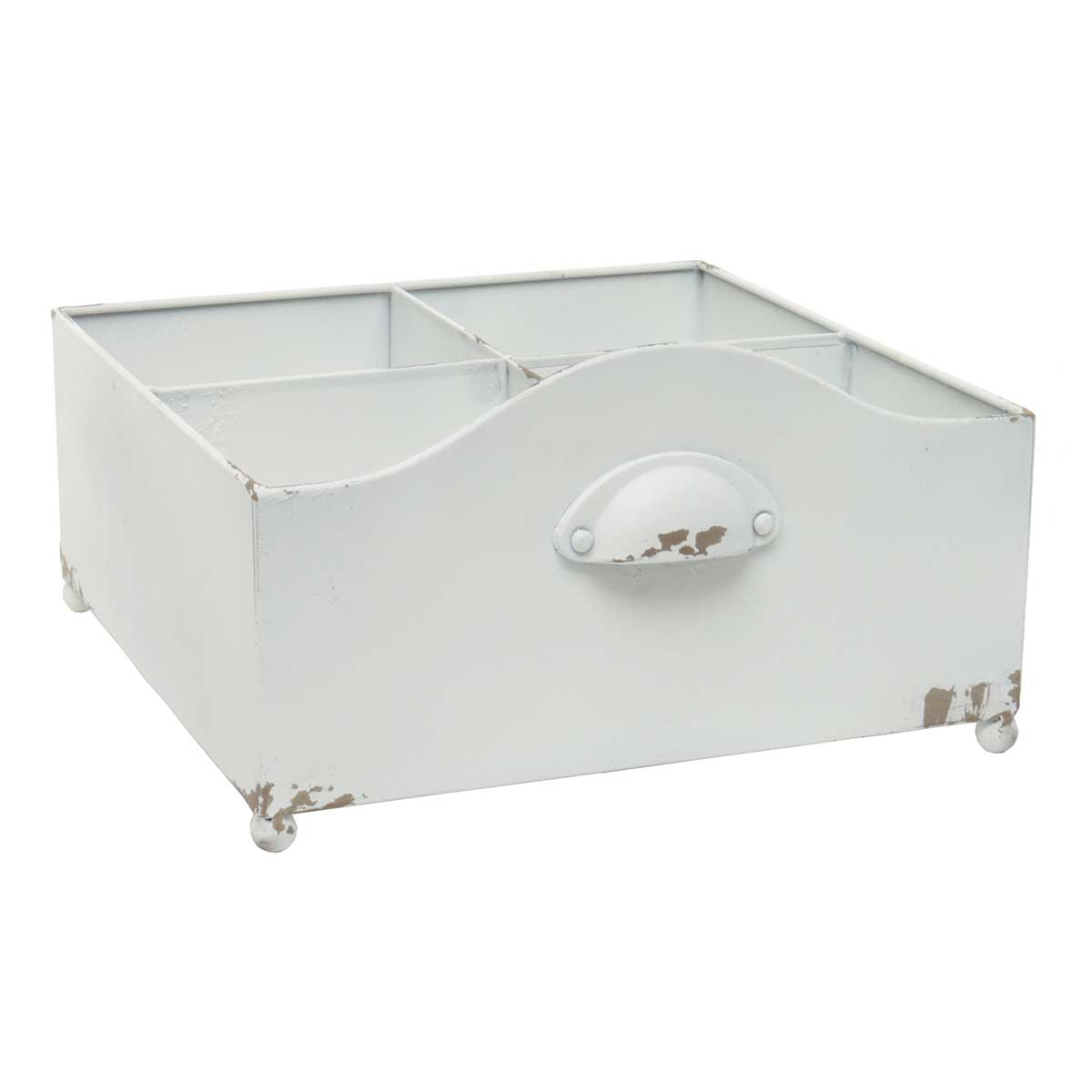 "Cottage Drawer with 4 Dividers White 11""x6.25"""