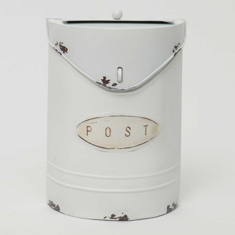 "Cottage Petite Post Box White 6""x2.5""x8.5"""
