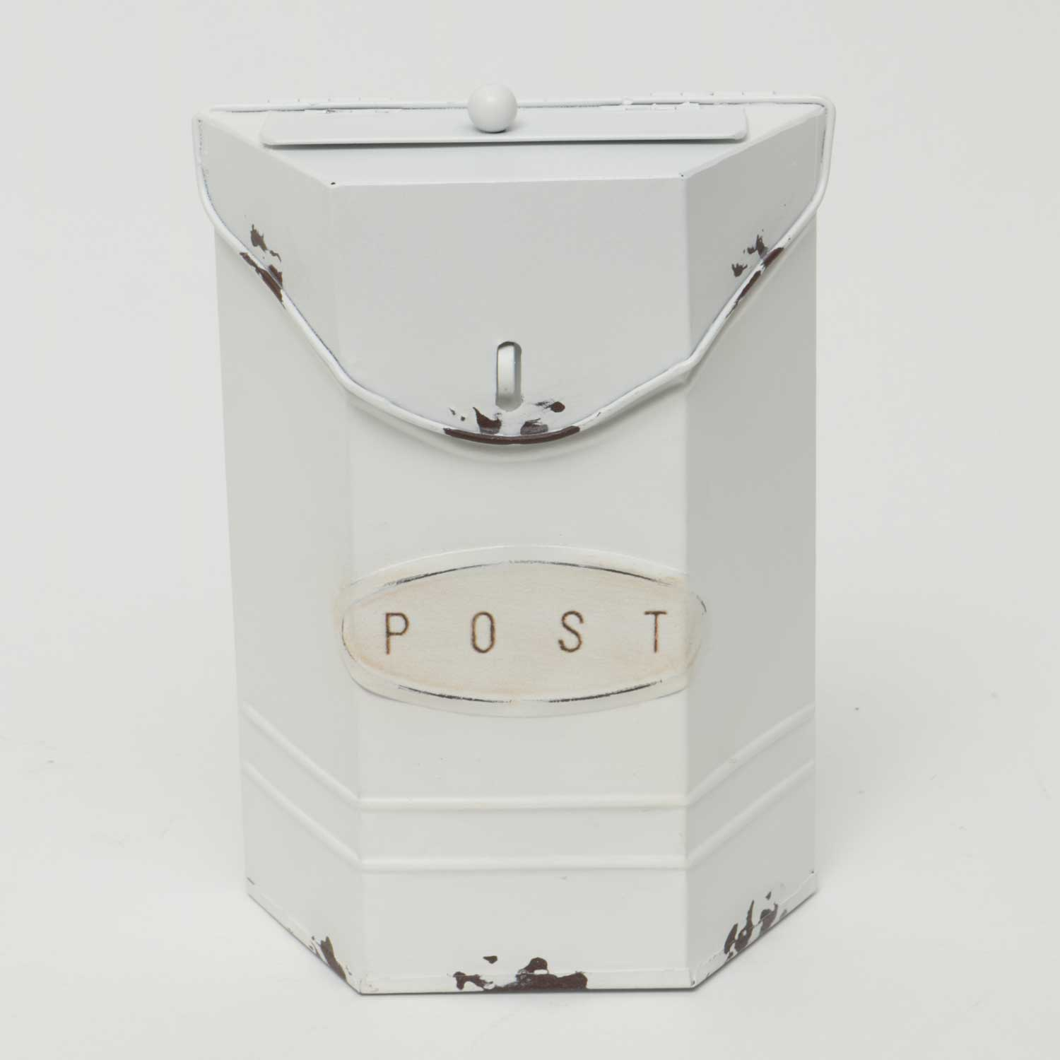 "Cottage Petite Post Box White 6""x2.5""x8.5"""