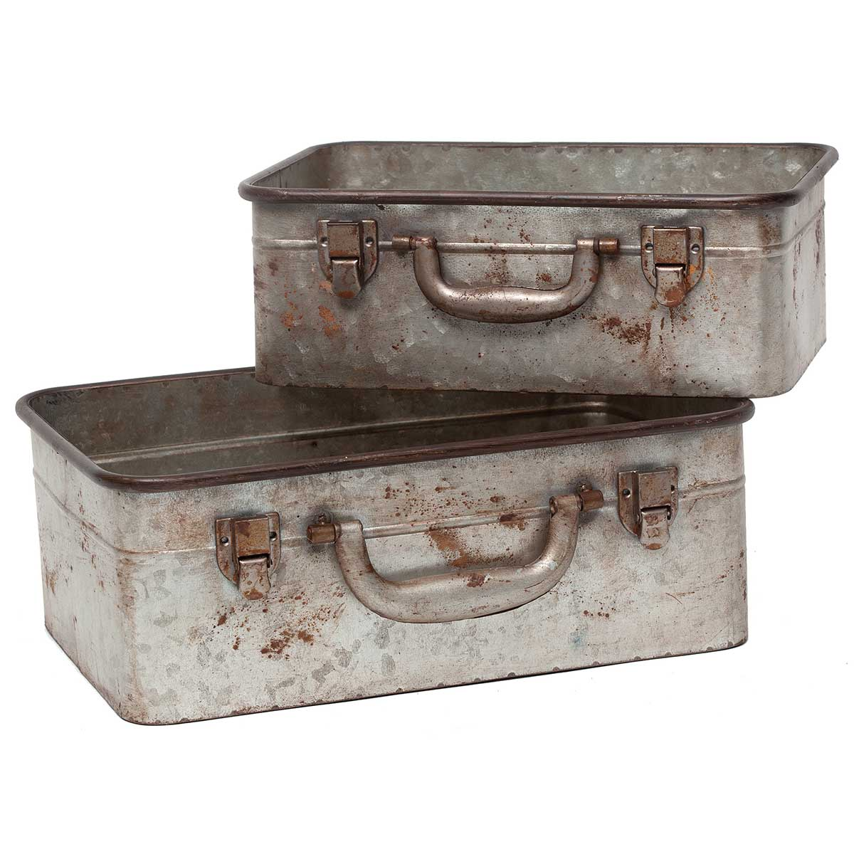 RECLAIMED METAL SUITCASE