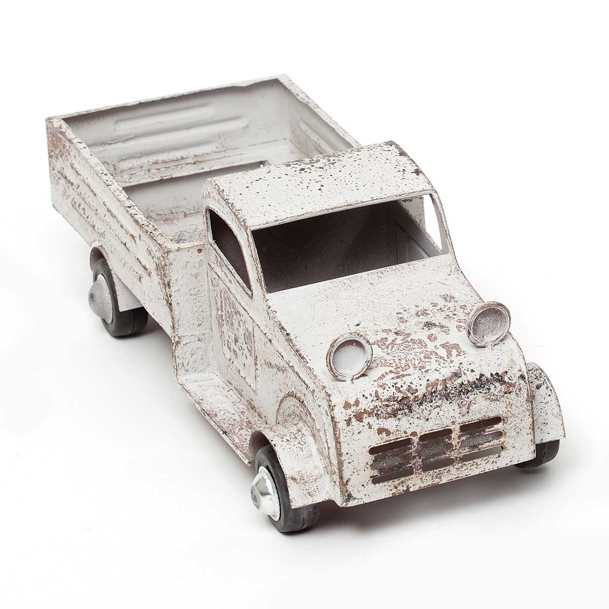"TRUCK METAL 17.5""X6.25""5"" RUSTIC WHITE"