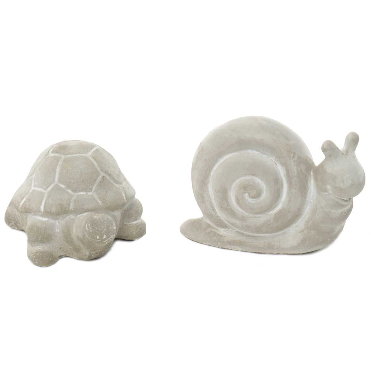 CONCRETE GARDEN FRIENDS TIMMY TURTLE AND SAMMY SNAIL SET OF 2