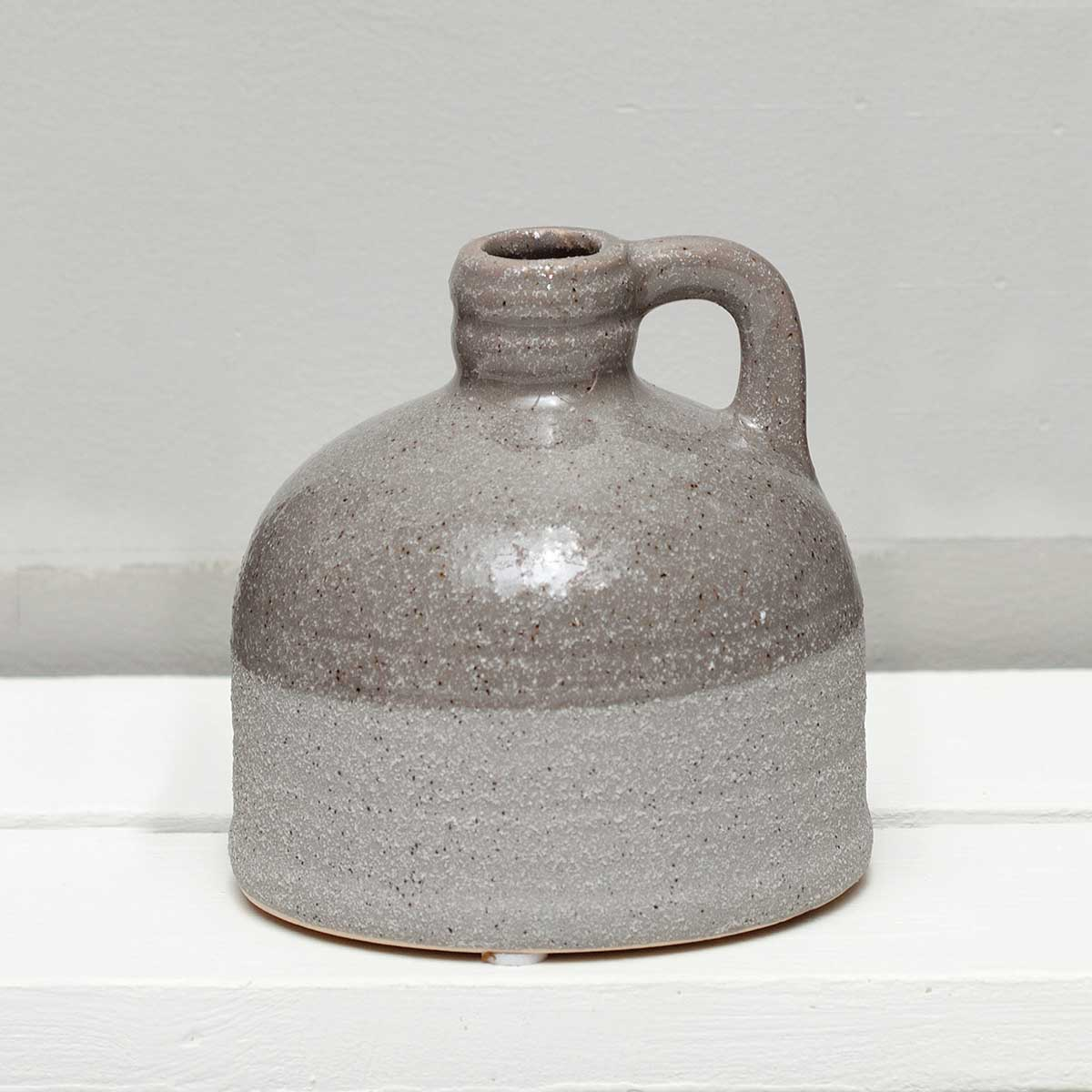 "TWO-TEXTURED JUG 4""X3.75"""