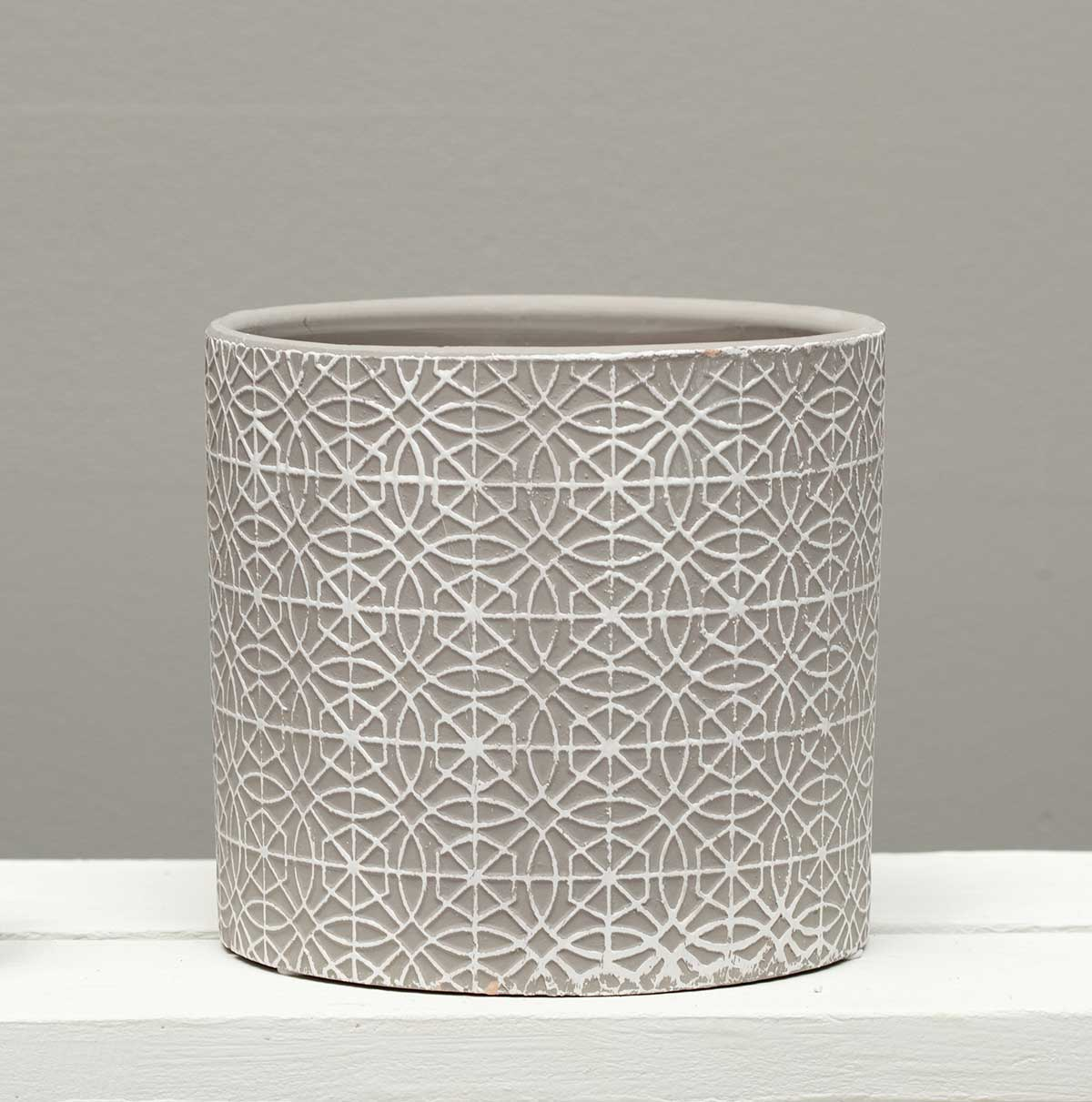 WHITEWASH GREY GEOMETRIC