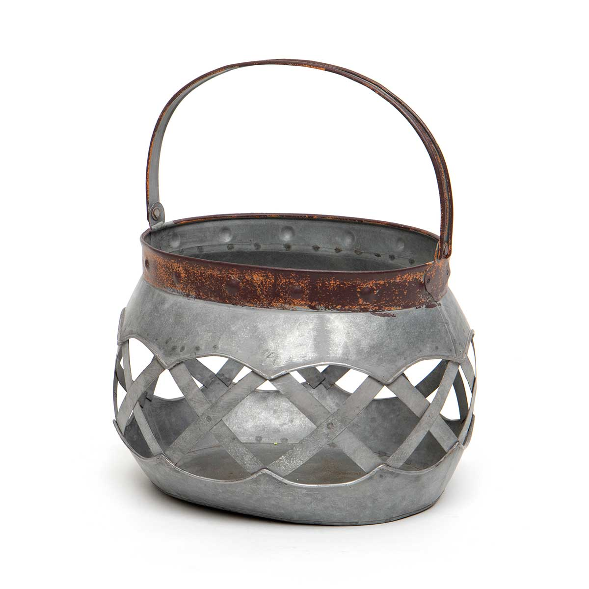 ROUND METAL LATTICE BASKET