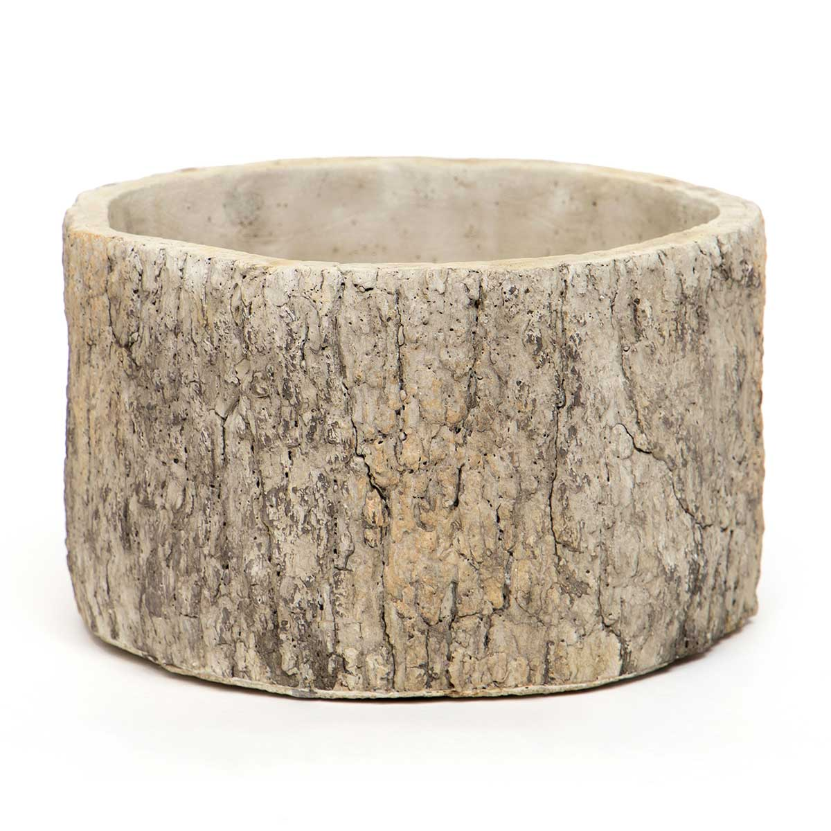 ROUND CONCRETE LOG POT