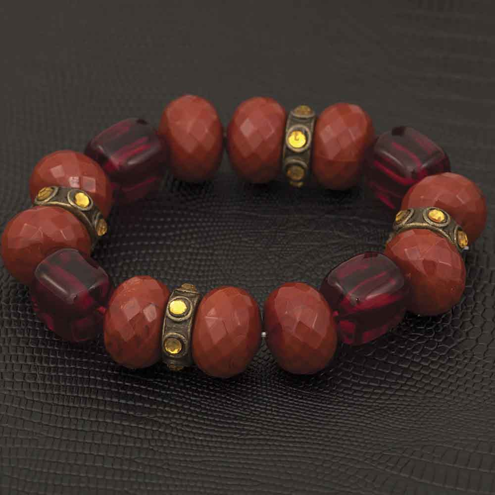 "Clay Bead Bracelet Stretch 7"" 70sp"