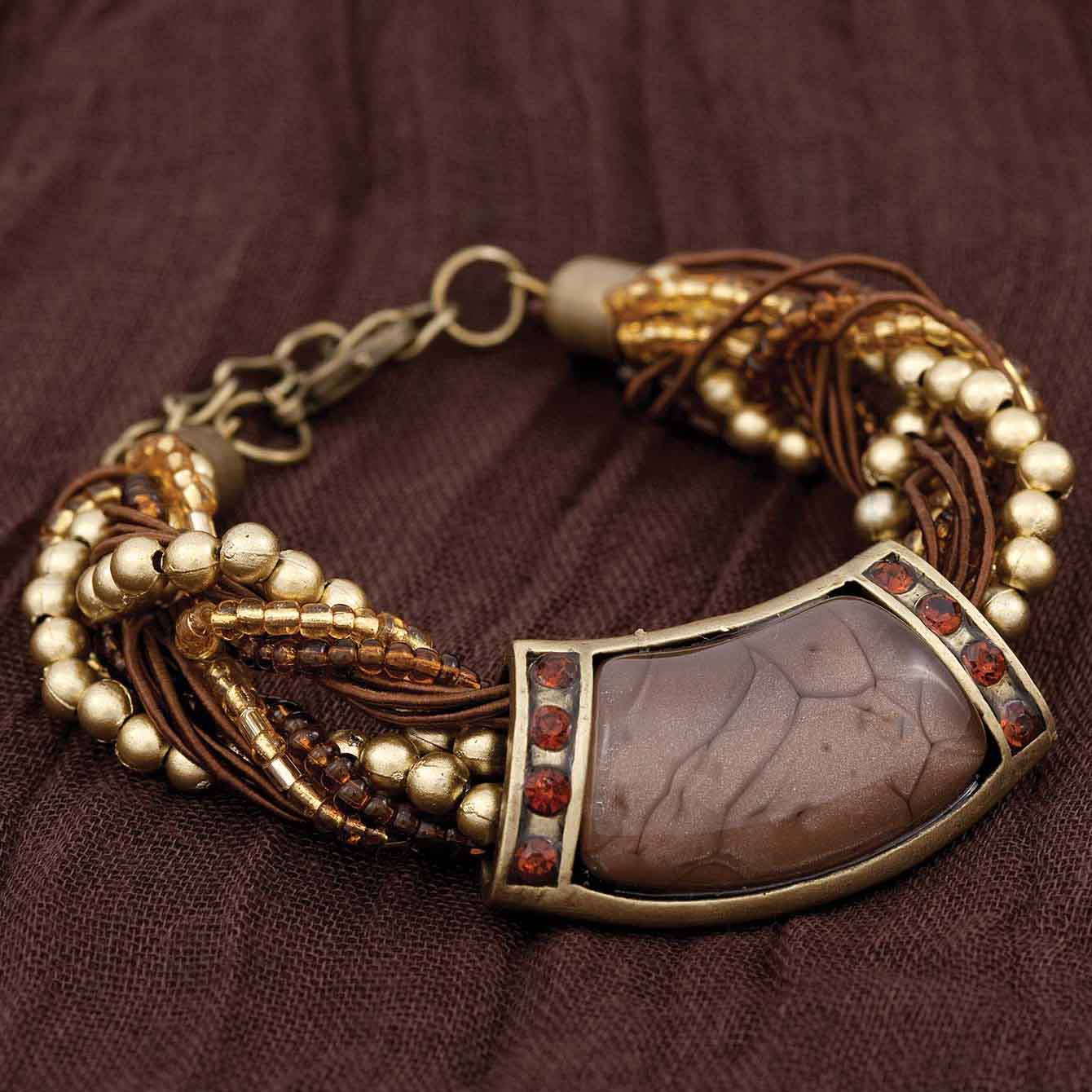 "Morocco Bracelet In Chocolate 6""-8"" *30sp"