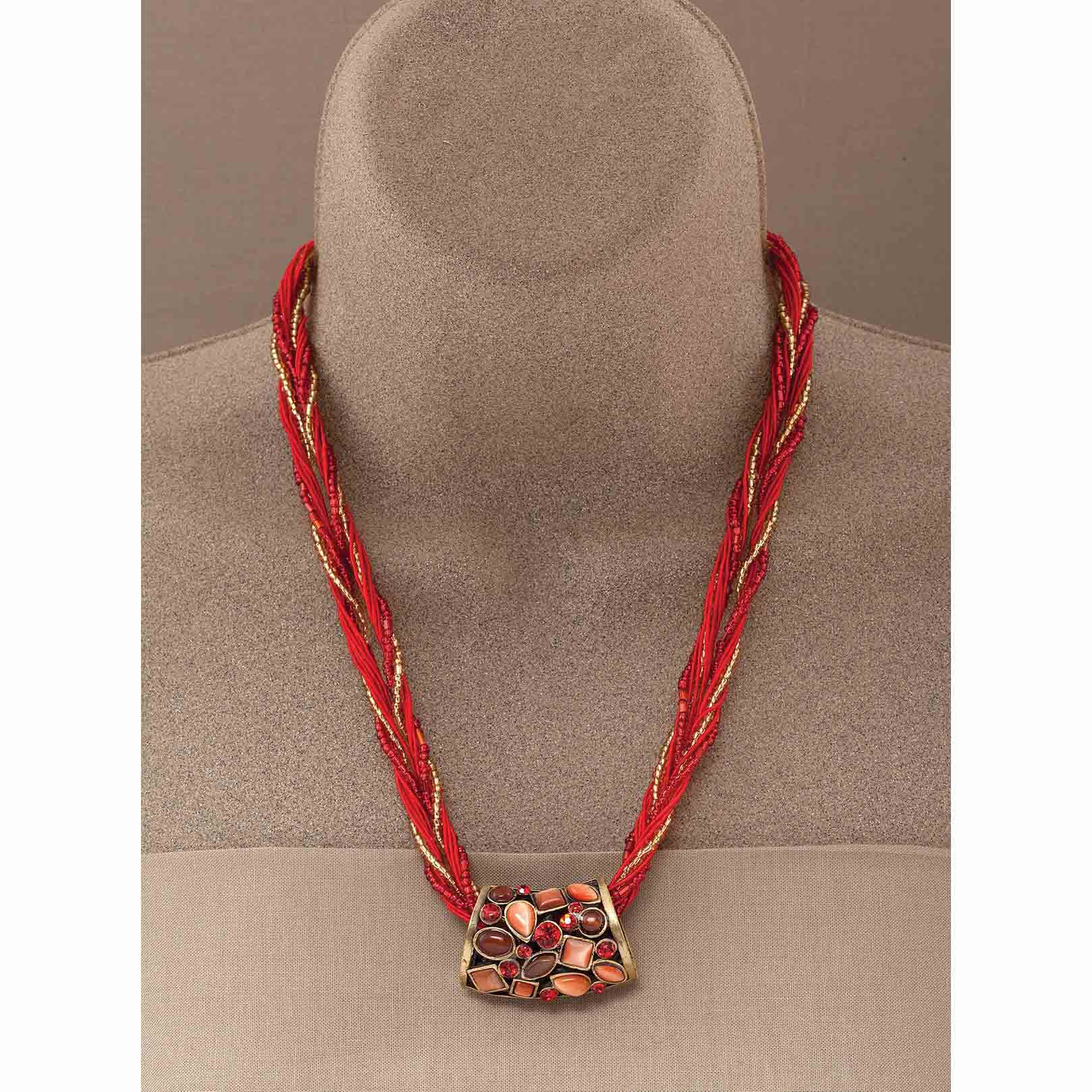 "Casablanca Necklace In Paprika 17""-19"""