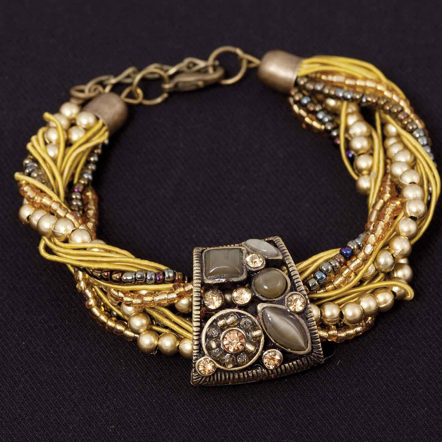 "Marrakesh Bracelet In Mustard 7""-8 1/2"" *30sp"