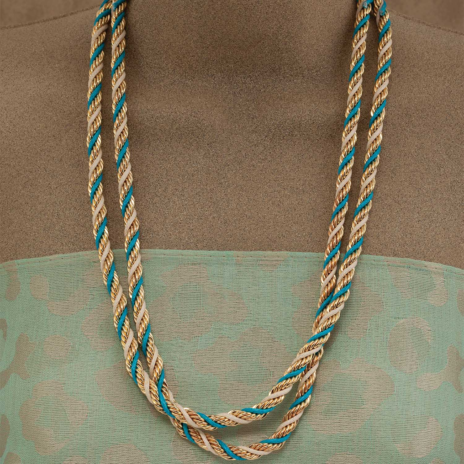 TEAL TWIST NECKLACE
