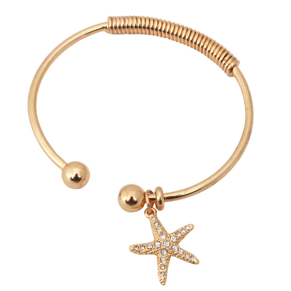 "Gold Bracelet 7""-8"" with Starfish *30sp"