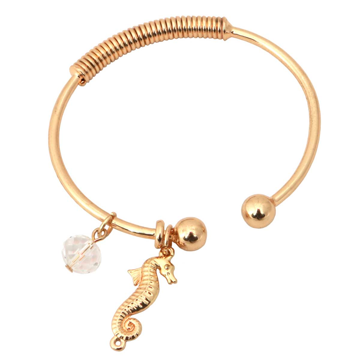 "Gold Bracelet 7""-8"" with Seahorse *30sp"