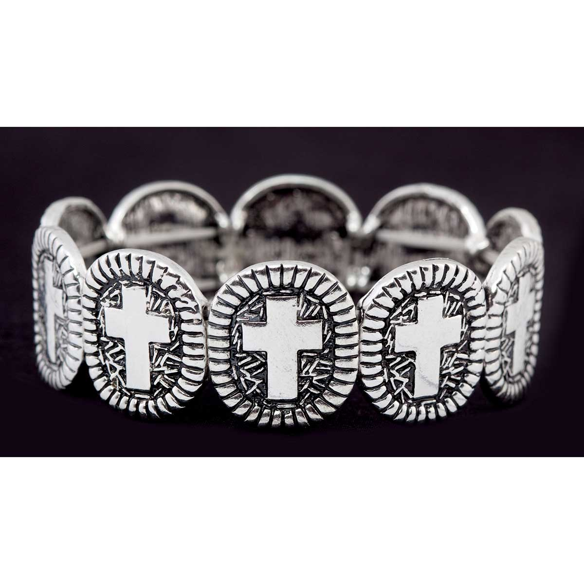 ANT SI CROSS STRETCH BRACELET