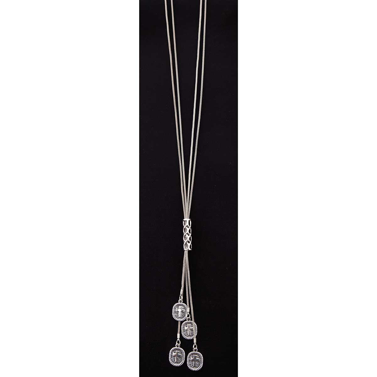 ANT SI CROSS DANGLE NECKLACE