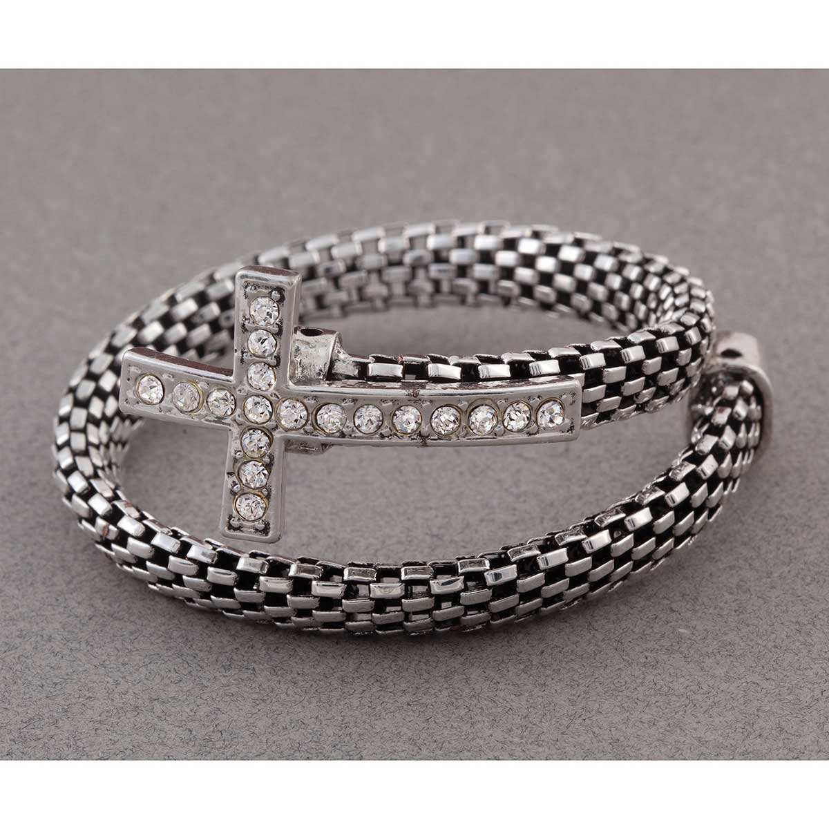 SI MESH CROSS WRAP BRACELET