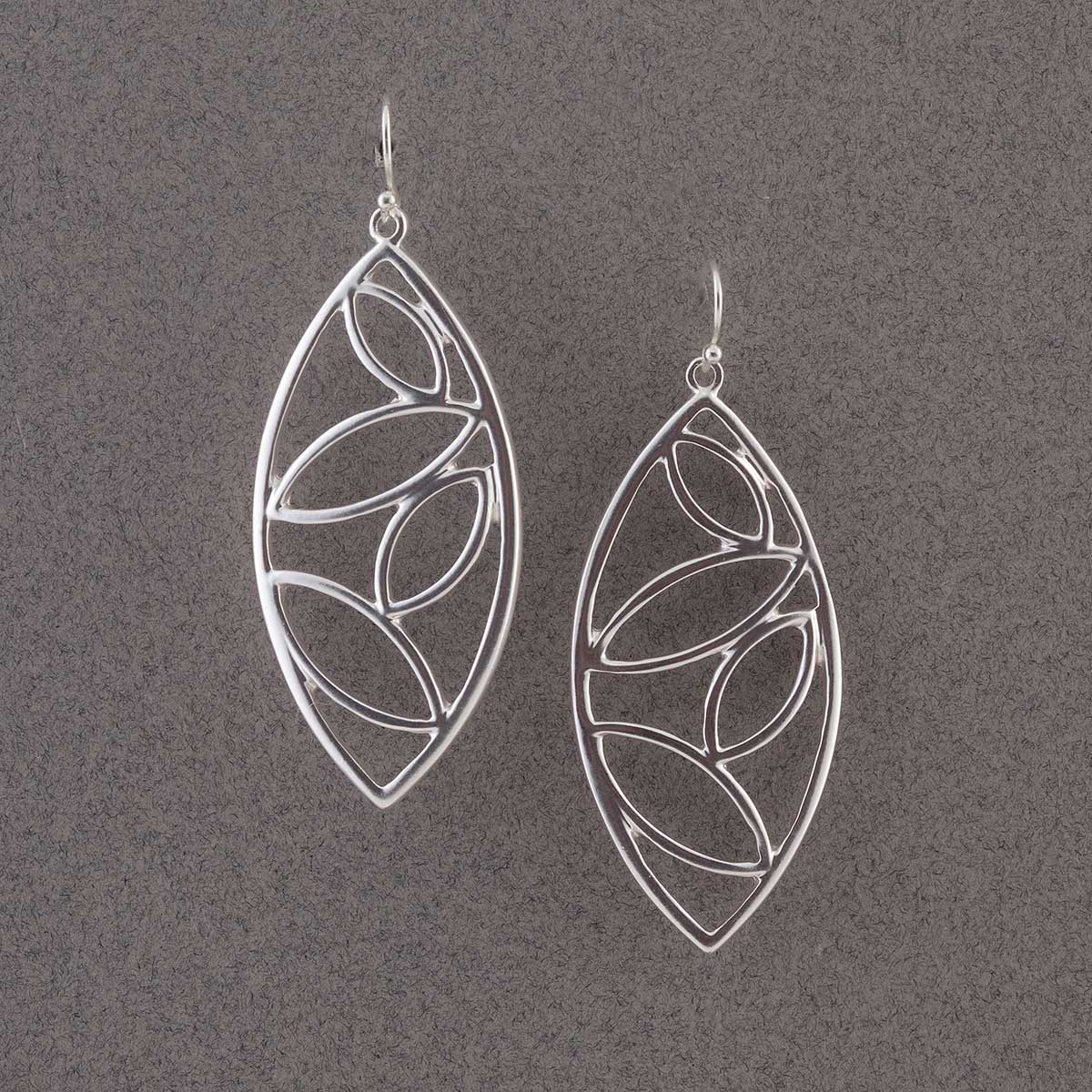 Silver Multi Oval Earrings