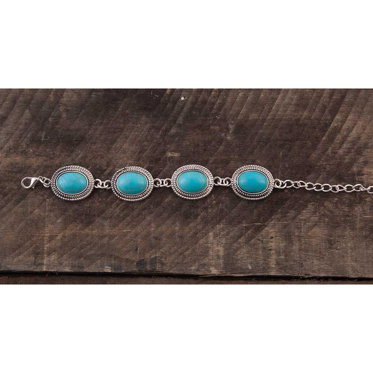 Turquoise Oval Stone Bracelet
