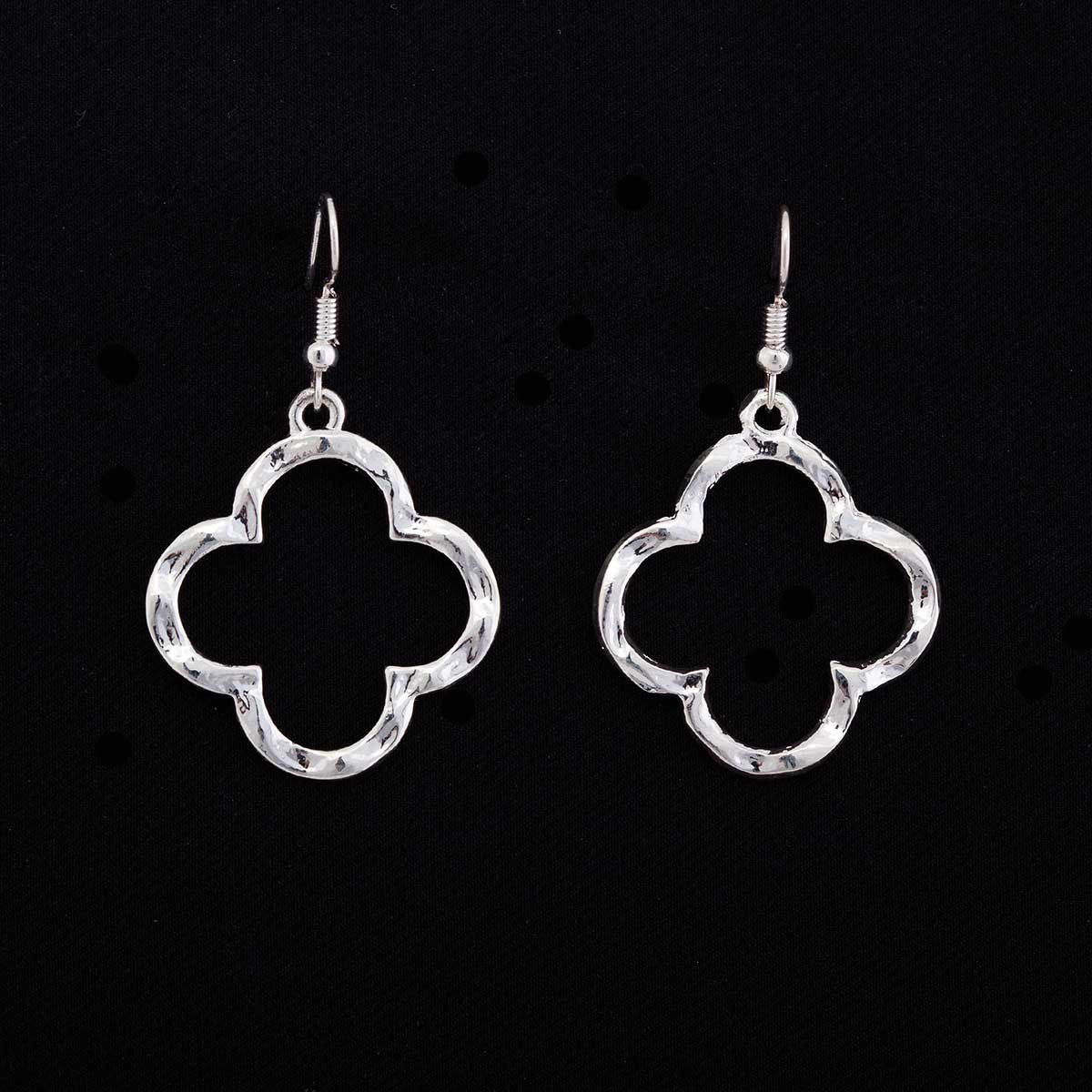 """Silver 1.25""""x1.25"""" Celtic French Wire Earrings"""