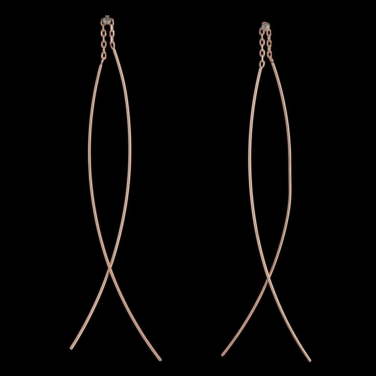 Rose Gold Threader Earrings