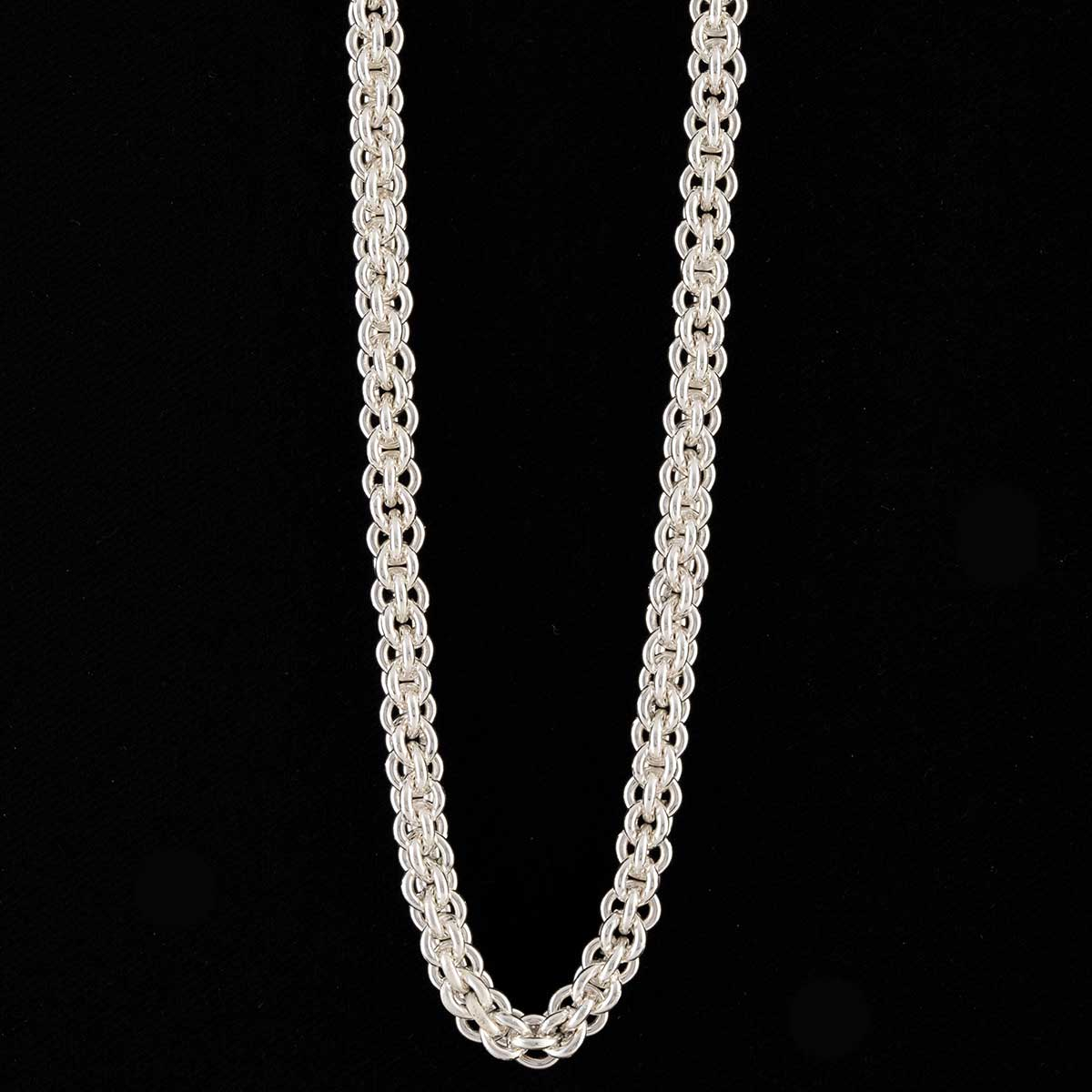Silver Chain Necklace with Magnetic Clasp