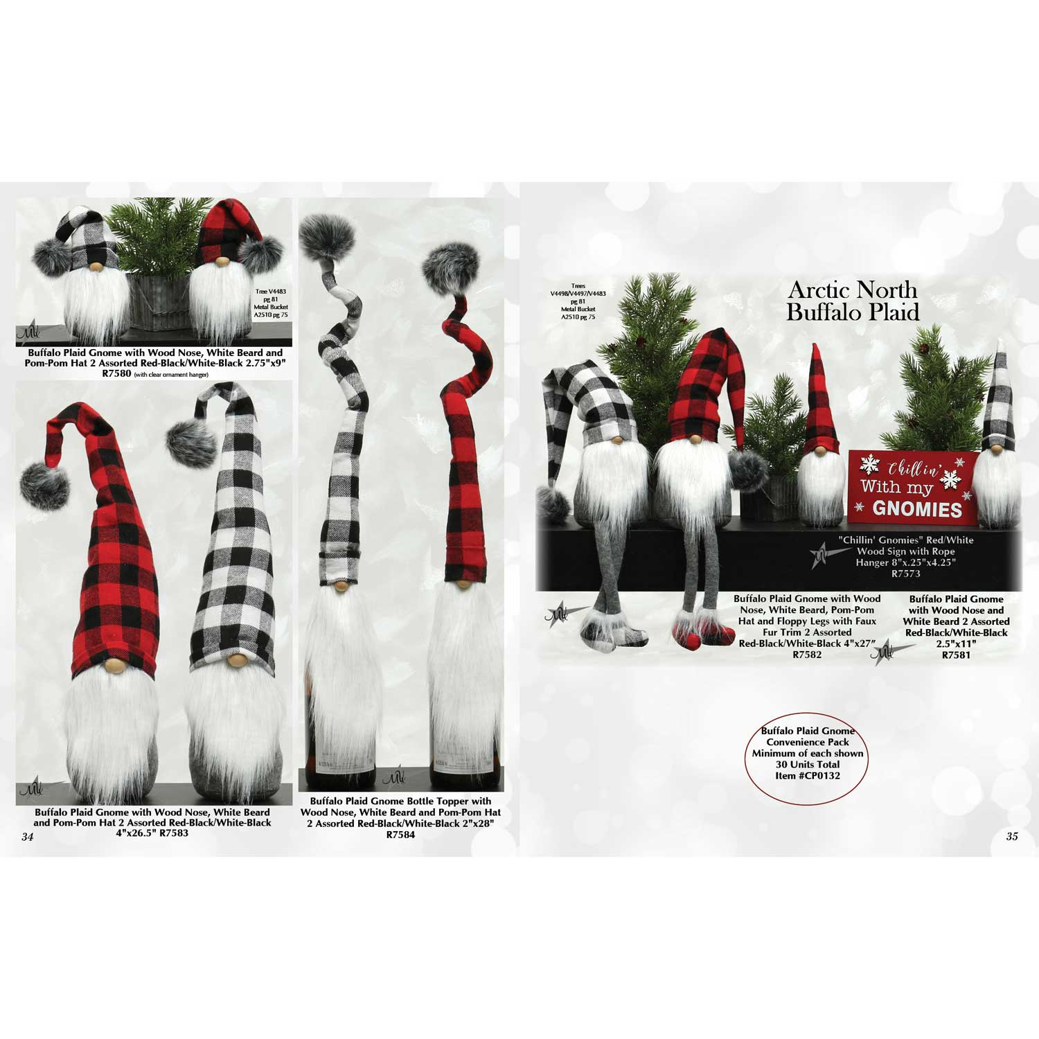 Buffalo Plaid Gnome Convenience Pack