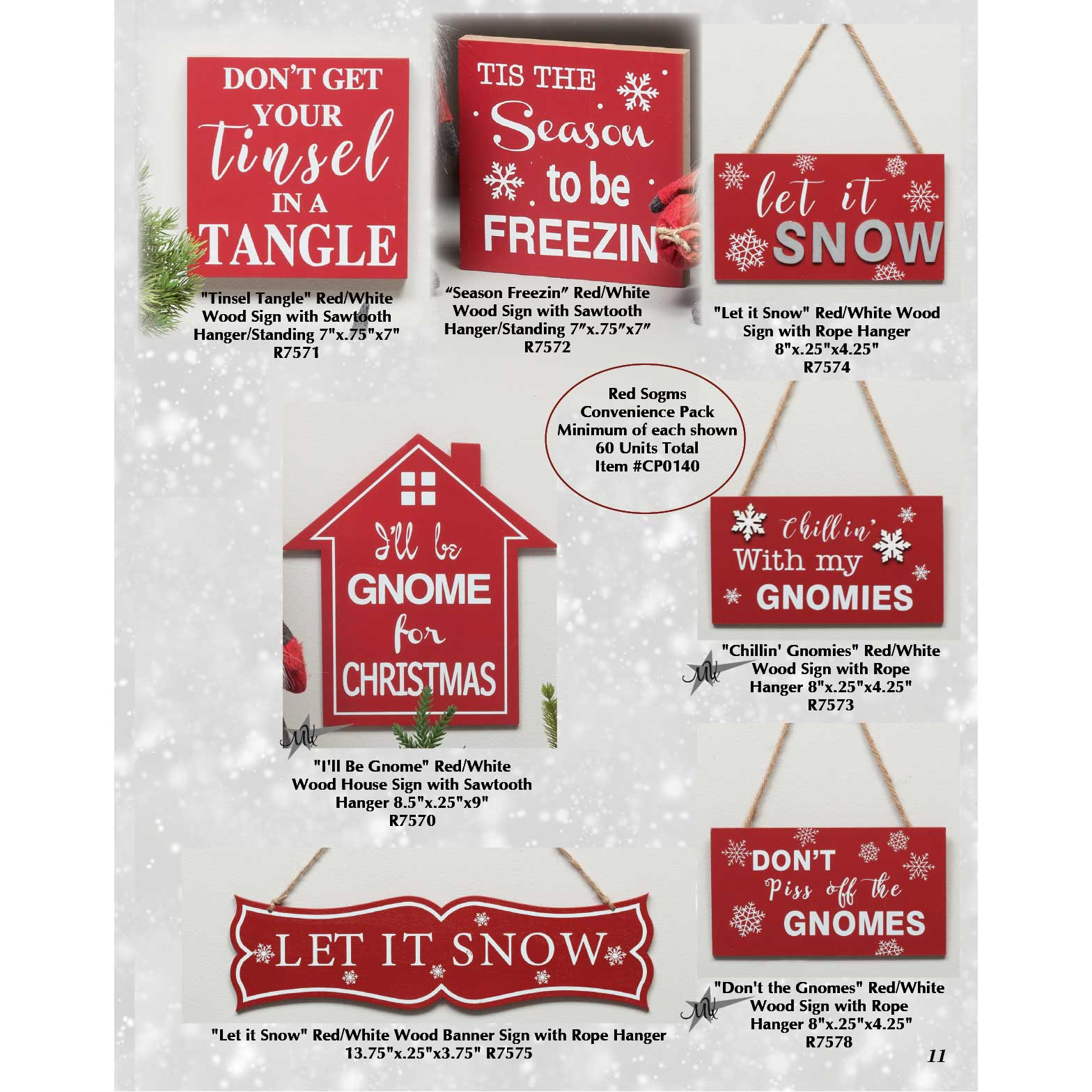Red Signs Convenience Pack