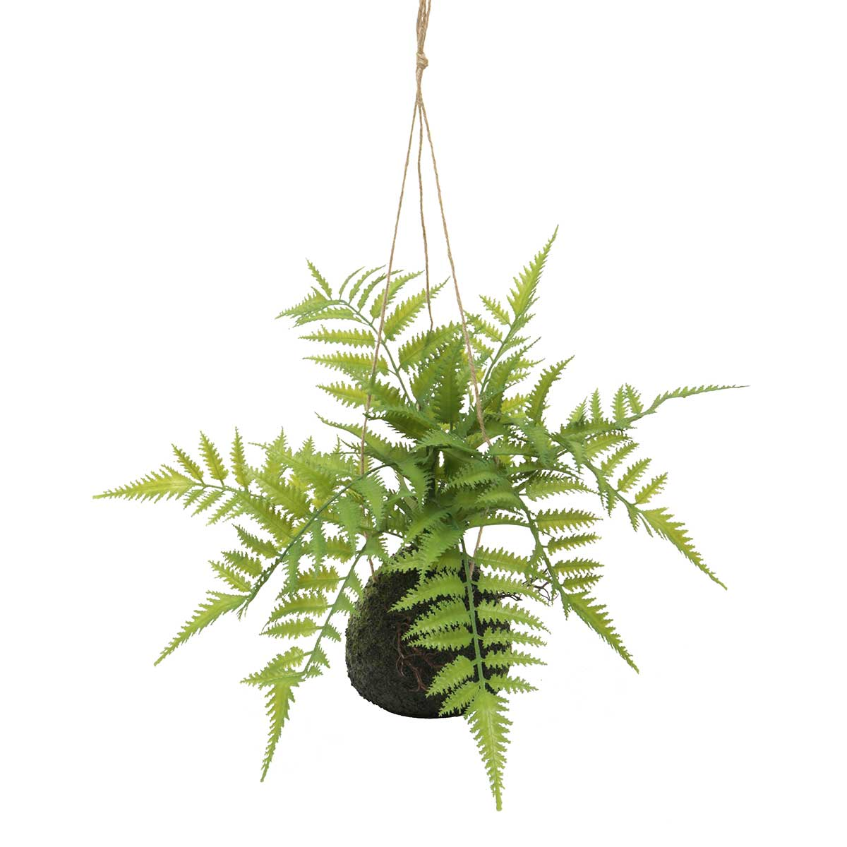 "HANGING SWORD FERN22"" FAUX DIRT"