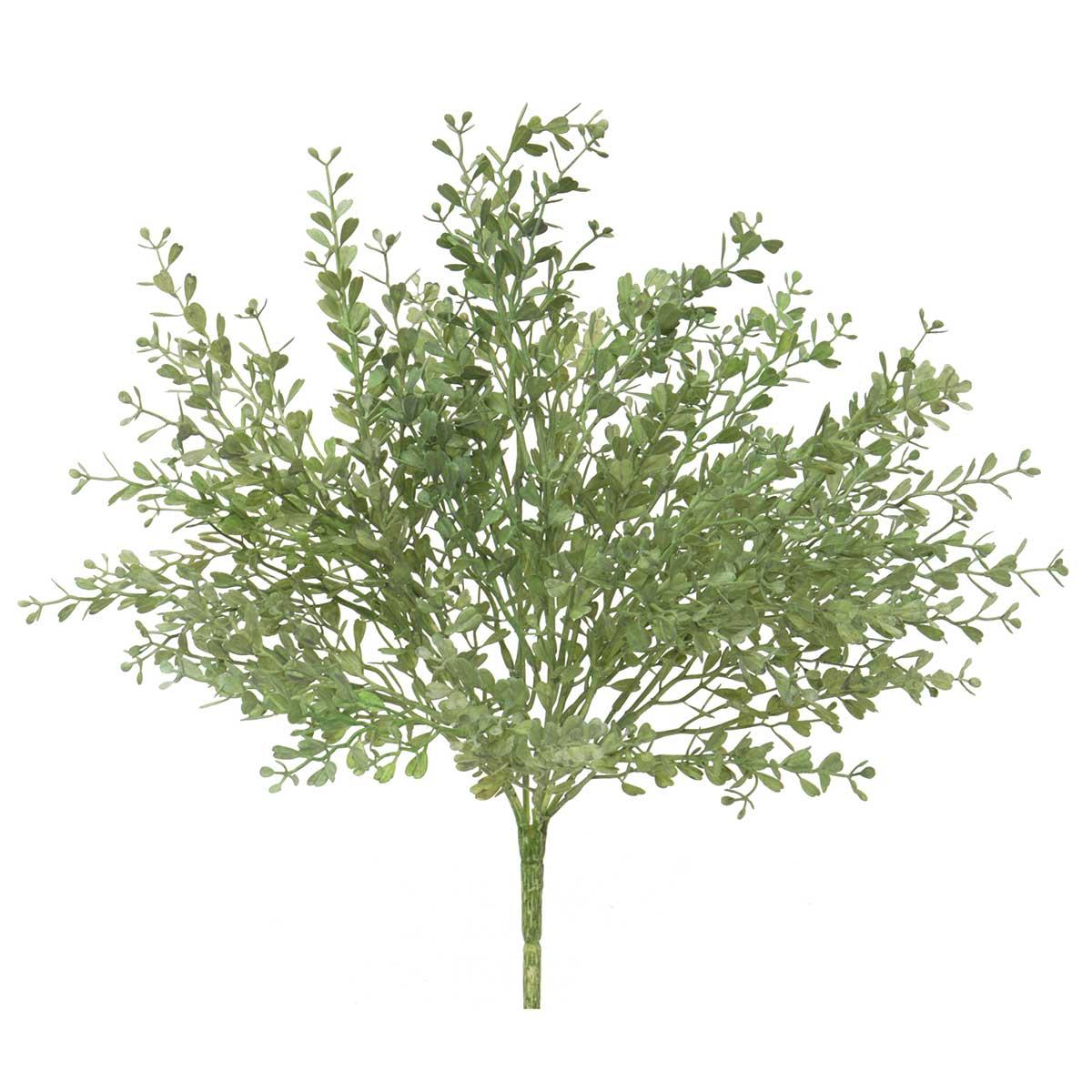 "Mini Frosted Boxwood Bush 13""x16"""