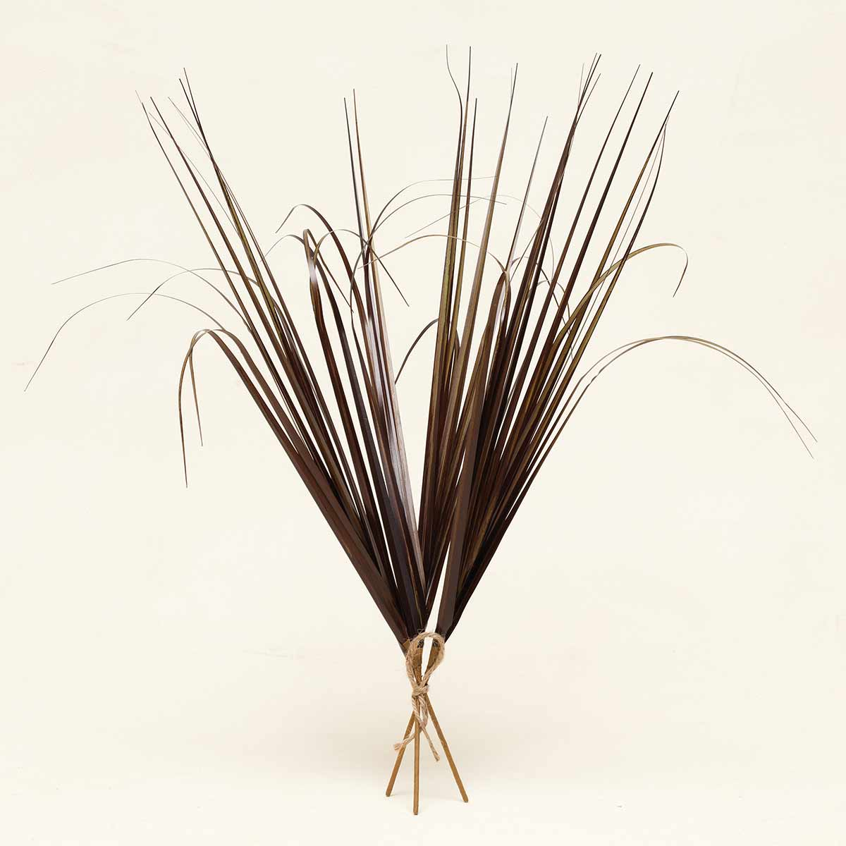 "ONION GRASS BUNDLE X3 WITH JUTE 24"" Brown"