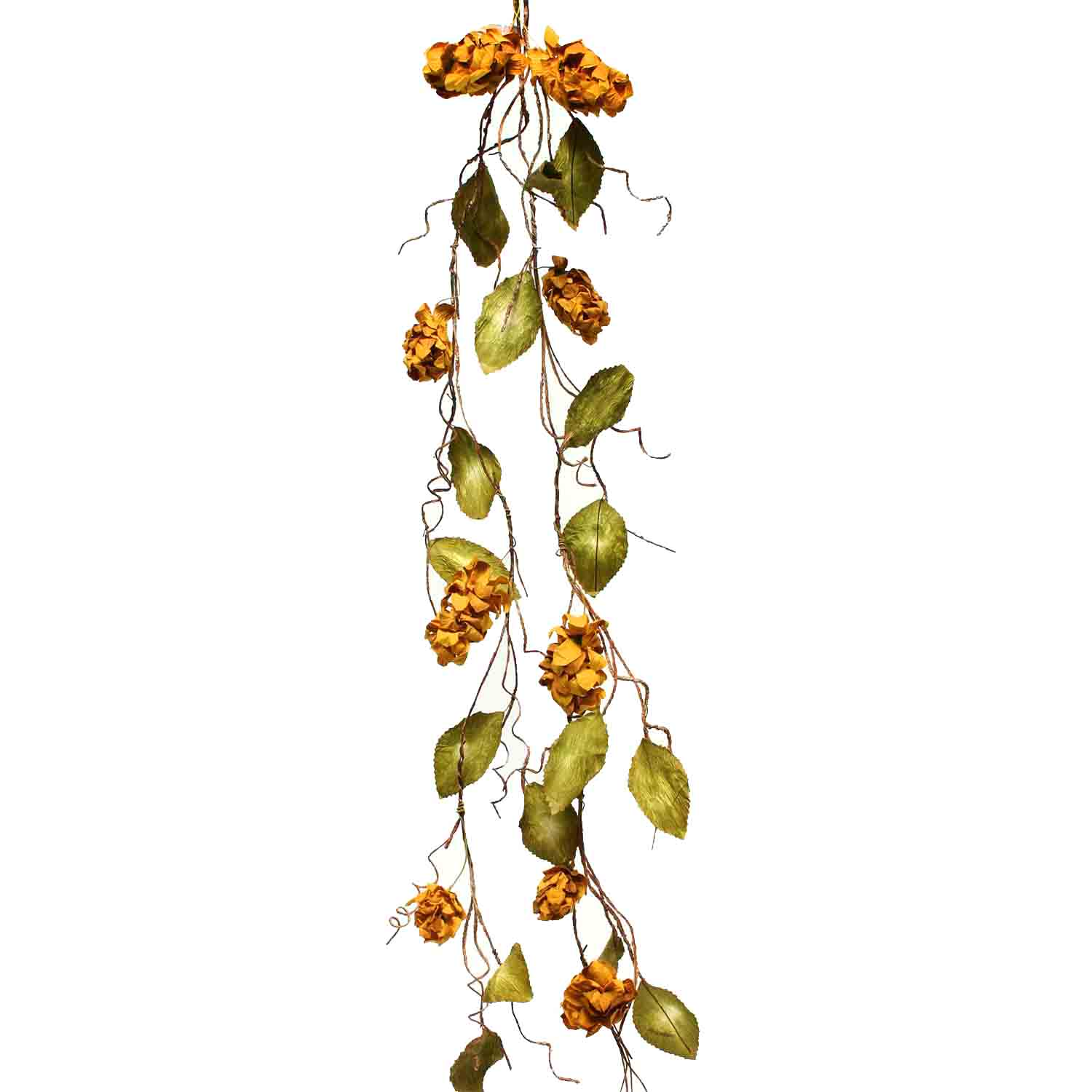 "DRIED HOPS GARLAND 66"" Mustard"