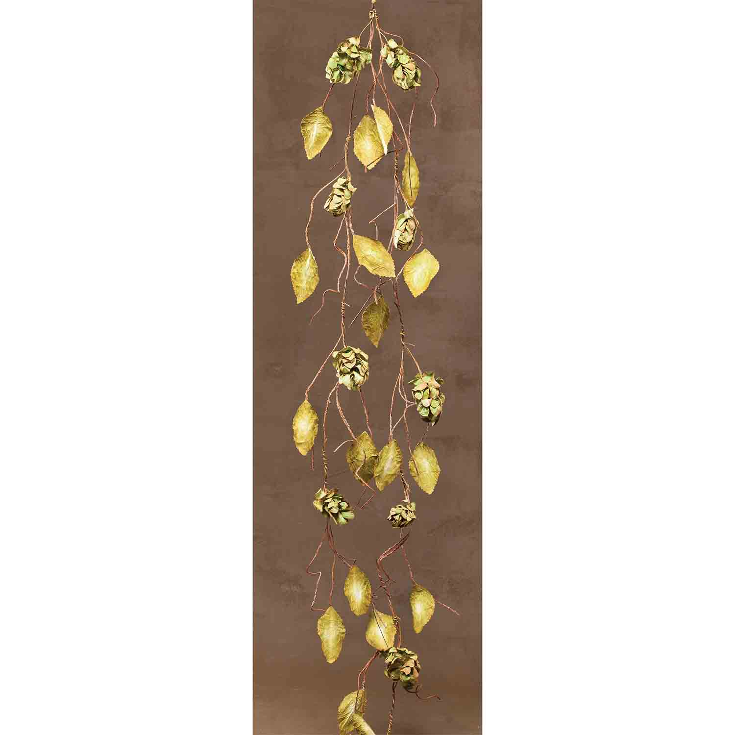 "DRIED HOPS GARLAND 66"" Sage"